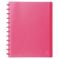 Sichtbuch Exacompta 86355E A4, 30 Taschen, transparent pink