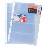 Pochettes Exacompta pour carnet cartes de visite A4 - paquet de 10