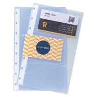 Pochettes Exacompta pour carnet cartes de visite A5 - paquet de 10