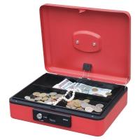 Coffre à monnaie avec touche 250x180x90mm rouge