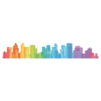 Deco-Transfert Skyline, farbig