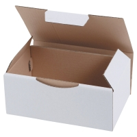 Boite d expédition éco 180 x 100 x 50 mm blanc - paquet de 50