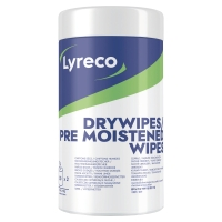 RENSESERVIETTER LYRECO WET AND DRY PAKKE 2 X 50 STK