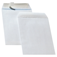 Tašky samolepiace s krycou páskou biele C5 (162 x 229 mm), 500 kusov/balenie