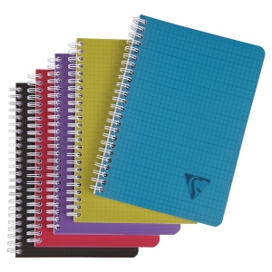 CAHIER CLAIREFONTAINE LINICOLOR SPIRALE A5 180 PAGES - QUADRILLE 5x5