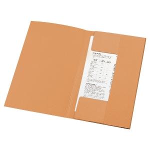Lyreco 3-kleppenmappen A4 karton 280g oranje - pak van 50