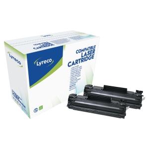 Lyreco HP CB435AD laservärikasetti musta, 1 kpl=2 kasettia