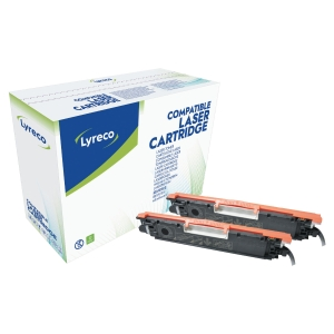 Lyreco Compatible HP Colour Laserjet CP1025 (126A) Black Twin Pack