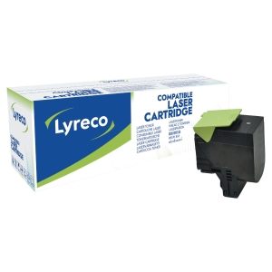 LYRECO LASERCARTRIDGE COMPATIBELE LEXMARK 80C2HK0 ZWART