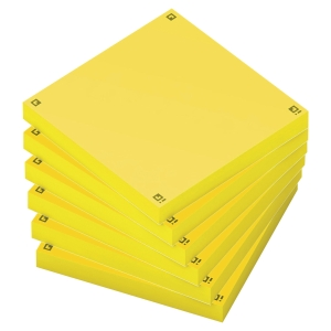 PACK DE 6 BLOCOS OXFORD SPOT NOTES 75X75 AMARELO