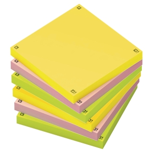 Oxford Digital Memo Notes 75X75 Assorted Pack Of 6