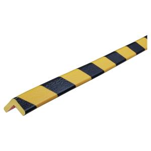 Profilé de protection Knuffi type E en polyuréthane 1 m noir/jaune