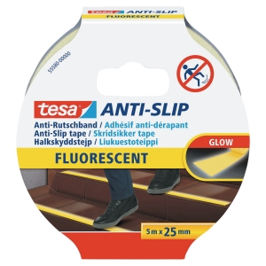 Tesa 55580 Anti-slip tape 25mmx5m Glow-in-the-dark