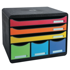 Exacompta Store-Box Mini 7-drawer unit harlequin