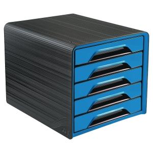 Skuffekabinet Cep Gloss, 5-skuffer, blå
