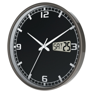Cep 11076 radio-controlled clock with date display 27 cm