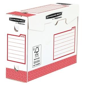 Archivschachtel Bankers Box System, B100xT345xH253 mm, rot, Pk. à 20 Stk.