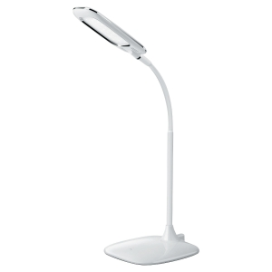 Lampada LED de secretaria Mika ALUMINOR cor branco