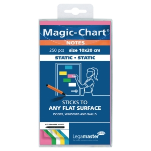 Magic Chart Notes Legamaster 159494, elektrostatisch haftend, 10x20cm sort 250St