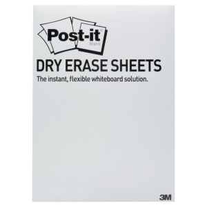POST-IT SUPER STICKY DRY ERASE FILM 3M ROTOLO CONF. 15 FOGLI 27,9CMX39CM