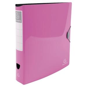 Iderama Rigid PP-Standardordner, rosa, Rückenbreite 7,5 cm