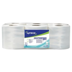 Lyreco 2 Ply Centrefeed Roll 450 Sheet- Pack Of 6
