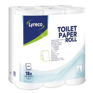 Lyreco 3 Ply Toiletpaper Roll 250 Sheet- Pack Of 18