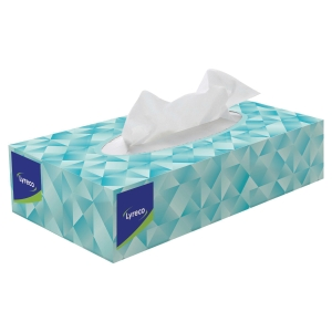 Lyreco 2 Ply White Facial Tissues- Box Of 100 Sheets