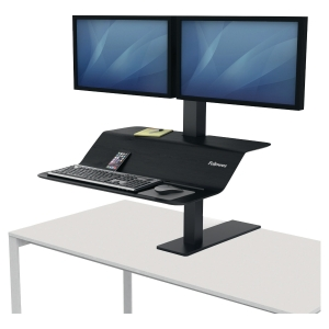 Fellowes Sitz-Steh Workstation Lotus™ VE, 2 Monitore