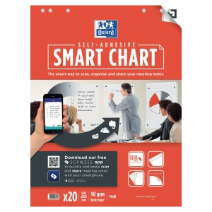 Oxford Smartchart Plain 60X80cm - Pack of 3