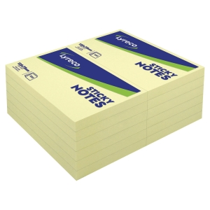 BLOC NOTES REPOSITONNABLES LYRECO 100 FEUILLES 76X127MM JAUNE