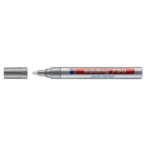 EDDING 750 PAINT MARKER 2-4MM SILVER