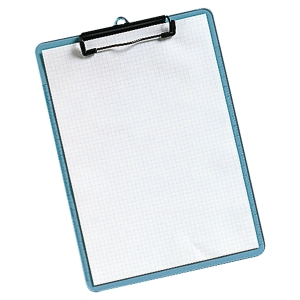 TRANSPARENT BLUE CLIPBOARD A4
