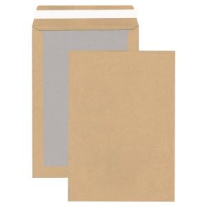 Versandtaschen mit Papprückwand, C4, ohne Fenster, HK, 110g, braun, 100 Stück