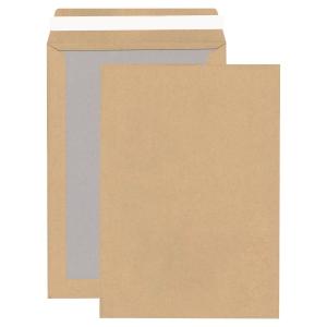 Versandtaschen mit Papprückwand, B4, ohne Fenster, HK, 110g, braun, 100 Stück