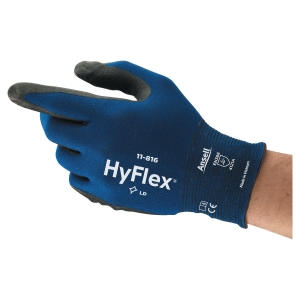 Gants Ansell HyFlex 11-816 polyvalents, enduction nitrile, taille 9, 12 paires
