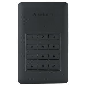 Dysk zewnętrzny VERBATIM Store'n'Go z zabezpieczeniem szyfrem, 2 TB*