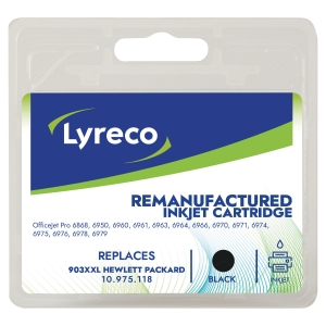 LYRECO kompatible Tintenpatrone HP 903XXL (T6M15A) schwarz