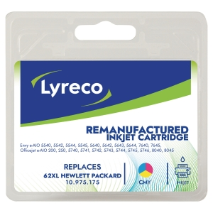 Lyreco HP C2P07A 62 Compatible Inkjet Cartridge Cyan/ Magenta/ Yellow