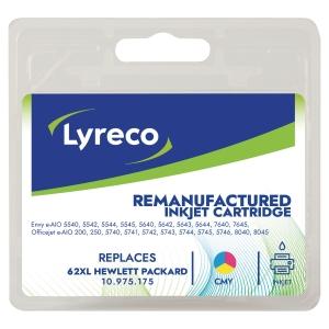 LYRECO kompatibilis tintasugaras nyomtató patron HP 62XL (C2P07AE) 3-szinű C/M/S