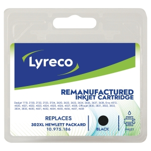 Tinte Lyreco kompatibel mit HP F6U68A/302XL, Inhalt: 22,5 ml, schwarz