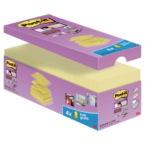 Post-it® super sticky z-notes R330-SSCY-VP20 76x76mm Canary Yellow  pk a 20 blk