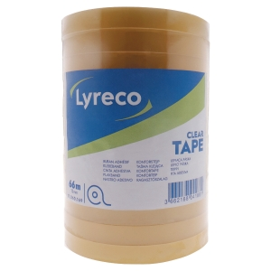 LYRECO CLEAR TAPE 12MMX66M PACK OF 12