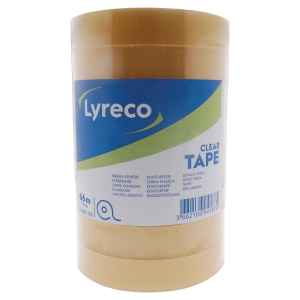 Ruban adhésif transparent Lyreco - 19 mm x 66 m - pack de 8