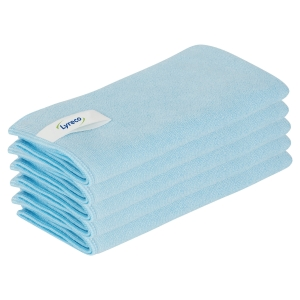 Lyreco Pro Microfibre Cloths 400x400mm Blue - Pack Of 5