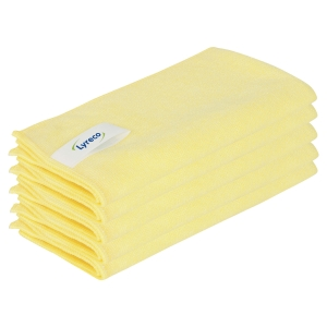 Lyreco Yellow Pro Microfiber Cloth - Pack Of 5