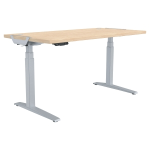 FELLOWES LEVADO H/ADJ DESK 160X80 MAPLE