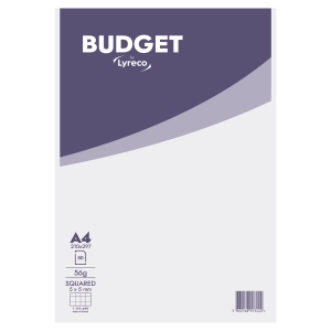 LYRECO BUDGET NOTEPAD A4 SQUARED 5X5 HEAD GLUED UNPUNCHED 50 SHEETS