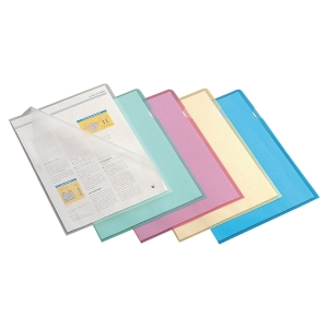 LYRECO ASSORTED A4 CUT FLUSH PLASTIC FOLDERS 110 MICRONS - PACK OF 100