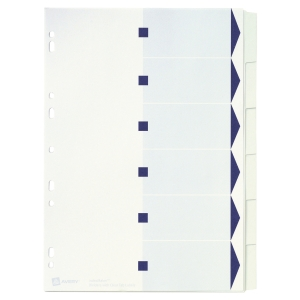 Juego de 6 separadores especiales A4  blanco  190g2  AVERY Index Maker